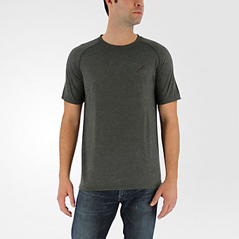 Ultimate Short Sleeve Tee, Dark Gray Heather/black