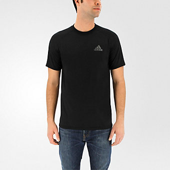 Ultimate Short Sleeve Tee, Black/Dark Solid Gray