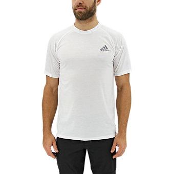 Ultimate Short Sleeve Tee, White/Dark Solid Gray