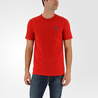 Ultimate Short Sleeve Tee, Scarlet/Dark Solid Gray