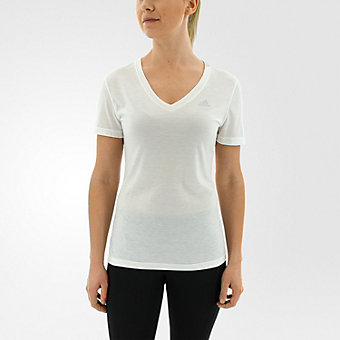 Ultimate Short Sleeve V-neck, White/matte Silver