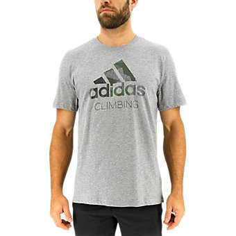 Edo Logo Linear Tee, Core Heather