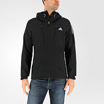 Terrex Swift Softshell Hoodie, Black/Clear Gray