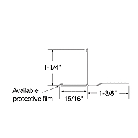 Acoustical and Drywall Transition Molding - 7904PF