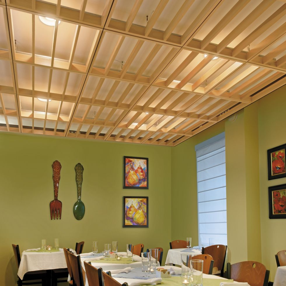 Woodworks lines armstrong ceiling solutions commercial - Wood slat ceiling system ...