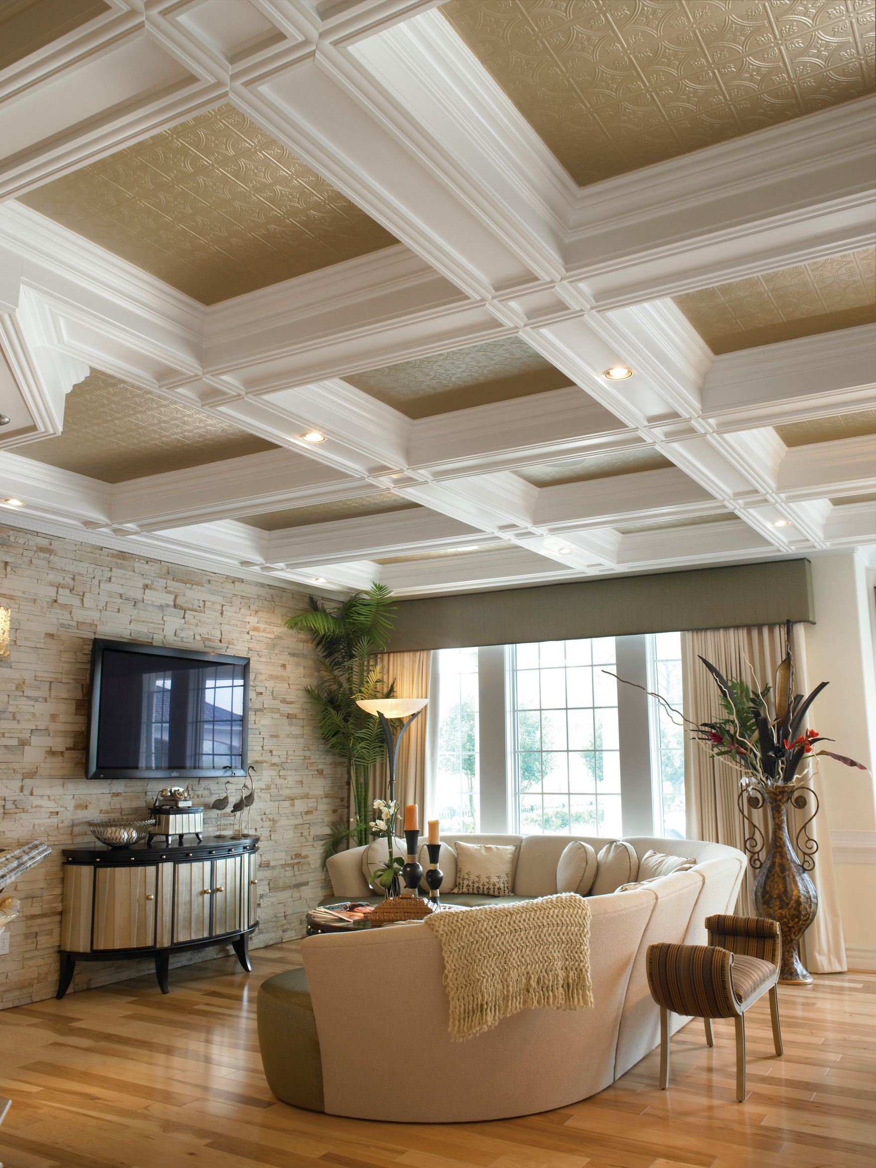 Remodelando la casa ceilings dont have to be boring ceiling tile on coffered ceiling dailygadgetfo Images