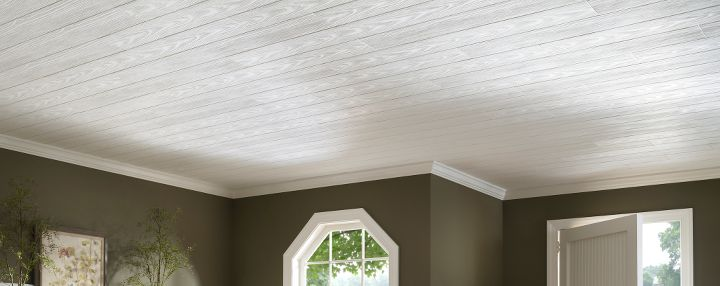 Cover Popcorn Ceiling With Wood Planks Cover A Popcorn