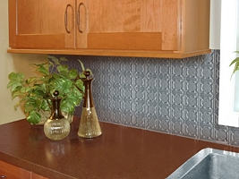 Metallaire Medallion Backsplash Stainless Steel (NA)