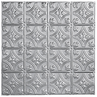 Metallaire Small Floral Circle Backsplash Stainless Steel (NA)