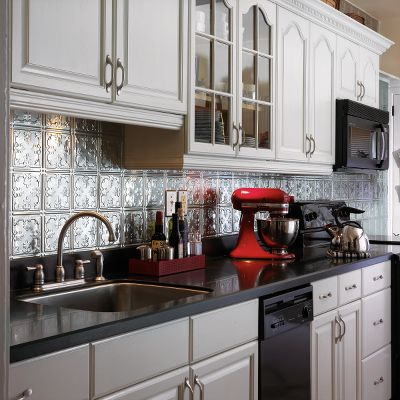 faux tin backsplash ideas wall decorating ideas with faux tin tiles