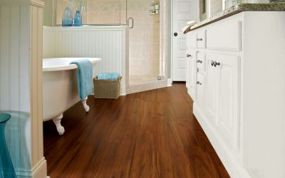 If You Want To Update Your Bathroom Easily And Affordably, Install A New Laminate  Floor. Amazing Ideas