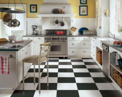 Black and White Tile Black and White Vinyl Flooring