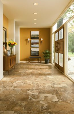 Tile Look Vinyl Part - 47: Natural Stone Flooring Look - Alterna - D4340. With Luxury Vinyl Tile ...