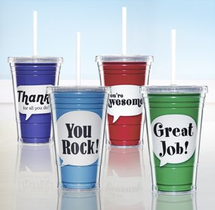 Twist Top Tumblers are great Customer Service Week Gifts
