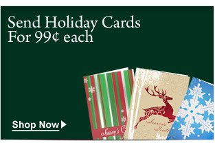 send holiday cards for 99 cents