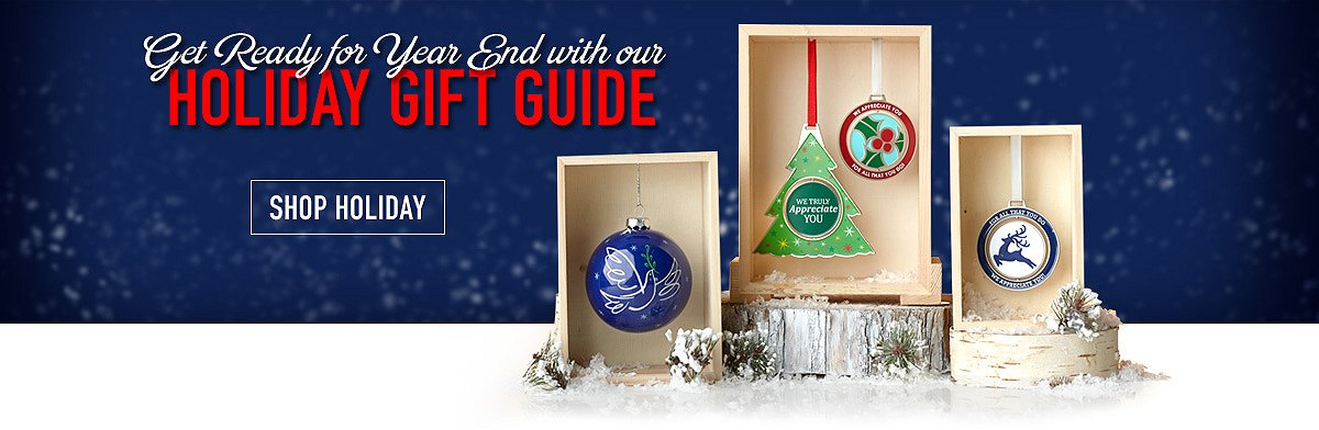 Get ready for year end with our Holiday Gift Guide, shop holiday button