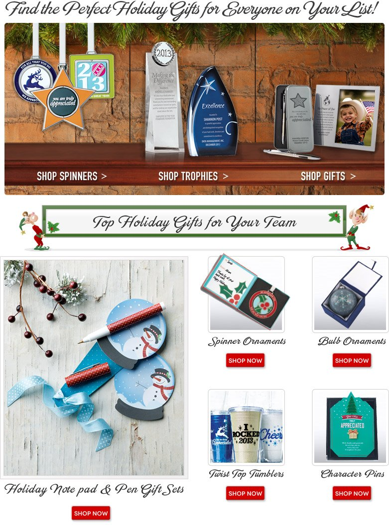 Find the perfect Holiday gifts for everyone on your list!