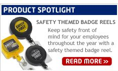 Product Spotlight: Safety Themed Badge Reels