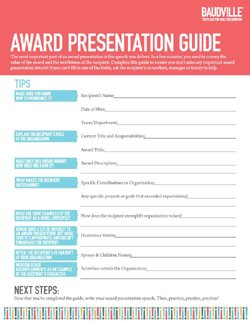 Download the Award Presentation Guide