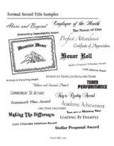 Sample Employee Recognition Award Certificates