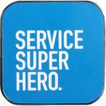 Service Super Hero Lapel Pin