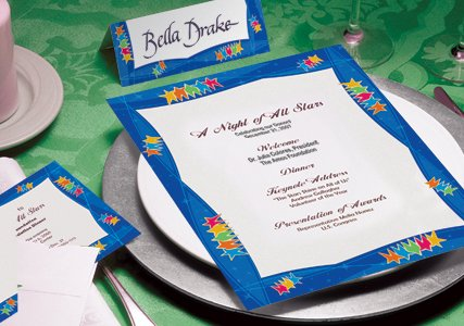 Invitations and event paper make your event more formal.