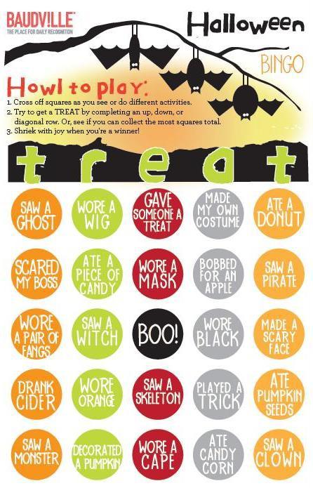 Photo of Halloween Bingo Card