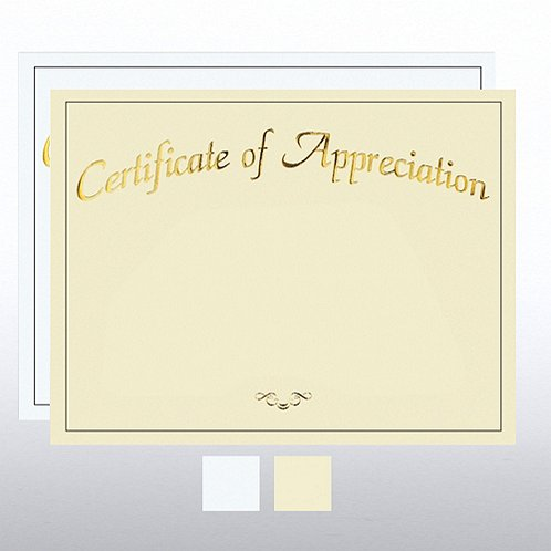 Certificate of Appreciation Foil Certificate Paper