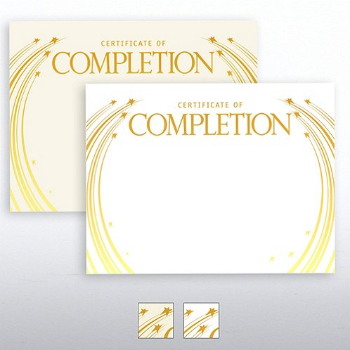 Completion Foil-Stamped Certificate Paper