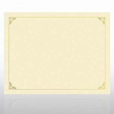 Foil Certificate Paper - Ornament - Cream