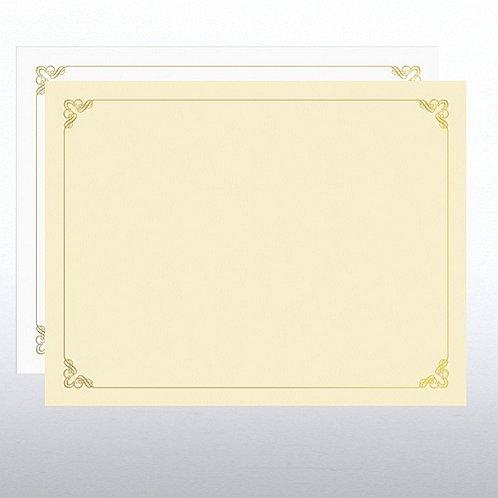 Ornament Design Foil Certificate Paper