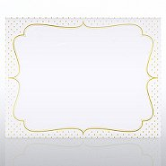 Foil Certificate Paper - Dotted Ornate Frame