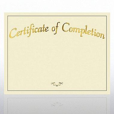 Foil Certificate Paper - Certificate of Completion - Cream