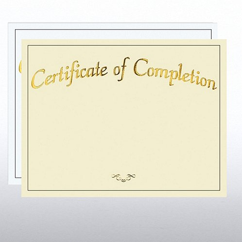 Certificate of Completion Foil Certificate Paper