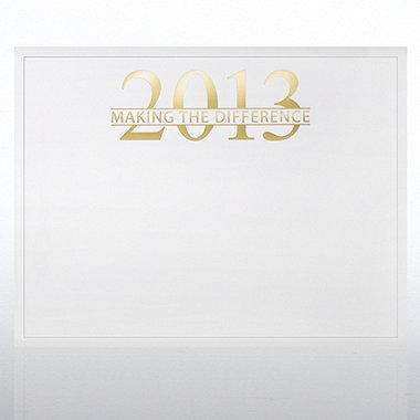 Foil Certificate Paper - 2013 Making the Difference - White