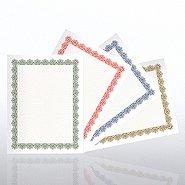 Certificate Paper Sampler - Scallop Design