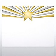 Foil Certificate Paper - Gold and Silver Foil Star Burst