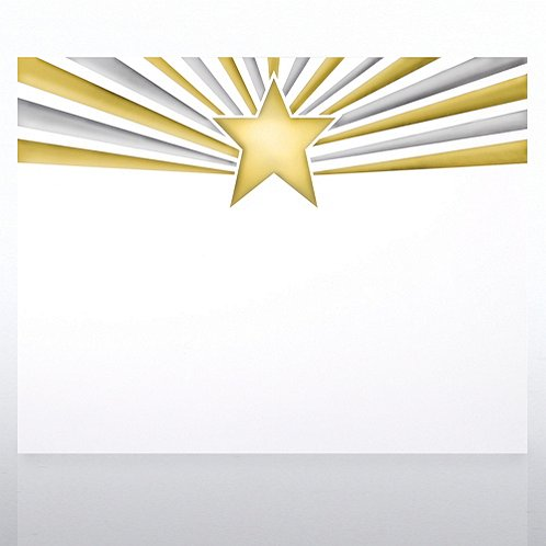 Duo Tone Beaming Star Foil Certificate Paper
