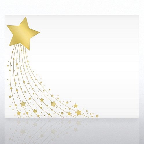 Shimmering Star Foil Certificate Paper