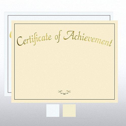 Certificate of Achievement Foil Certificate Paper