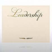 Foil Certificate Paper - Laurel Leadership - Cream