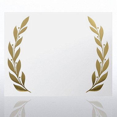 Foil Certificate Paper - Majestic Laurel - White