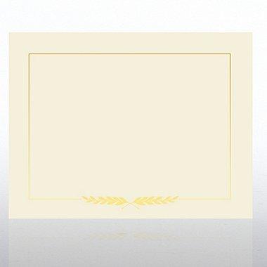 Foil Certificate Paper - Laurel - Cream