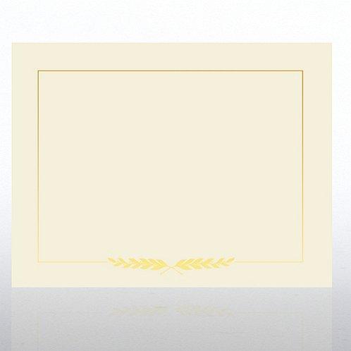 Laurel Foil Cream Certificate Paper