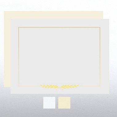 Foil Certificate Paper - Laurel