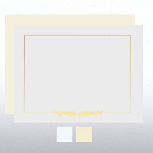 Laurel Foil Certificate Paper