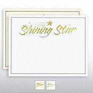 Foil Certificate Paper - Shining Star