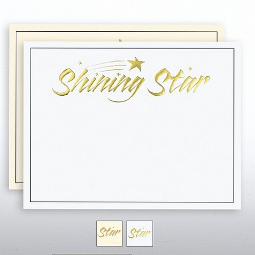 Shining Star Foil Certificate Paper