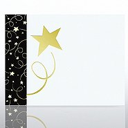 Foil Certificate Paper - Black Tie - White