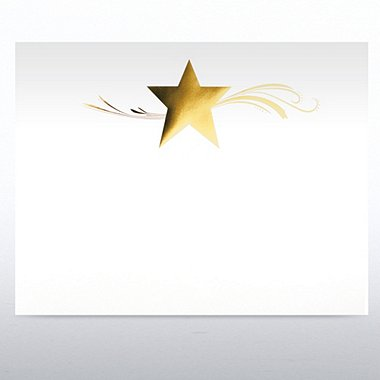 Foil-Stamped Certificate Paper - Star Dream - White